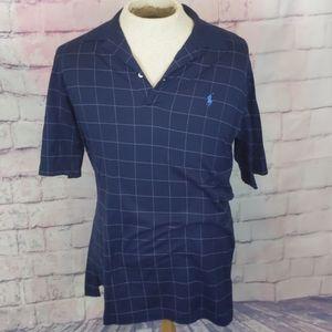 Polo golf blue plaid shirt mens siZe medium